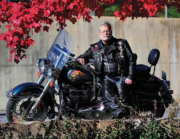 When he was younger, Bill Kleckner rode with a motorcycle gang in Texas. Now a born-again Christian, Kleckner still feels a connection to the biking community. He is organizing a church for bikers in Hagerstown.