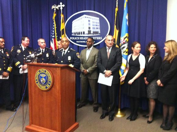 Police Commissioner Anthony Batts, joined by police, prosecutors, and the assistant special agent in charge of the ATF's Baltimore office, discuss the indictments of 24 people in West Baltimore