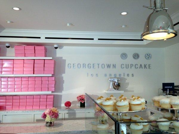 Georgetown Cupcake opens on Robertson Boulevard in Los Angeles, with free cupcakes on Saturday.