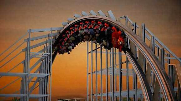 Hades 360 wooden roller coaster