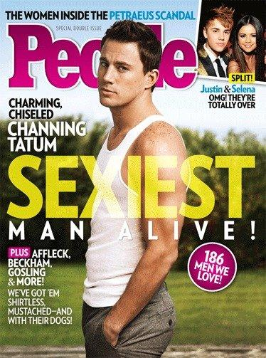 "People has chosen Channing Tatum as this year's ""Sexiest Man Alive."""