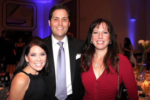 Jennifer Cohen, left, Brian Cohen and Maggie Fischer at David Posnack Jewish Day School's second annual gala, which took place Nov. 10 at the David Posnack Jewish Community Center located in Davie.