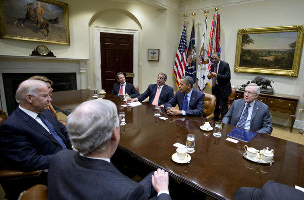 President Obama hosts a meeting of congressional to discuss dealing with the so-called fiscal cliff.