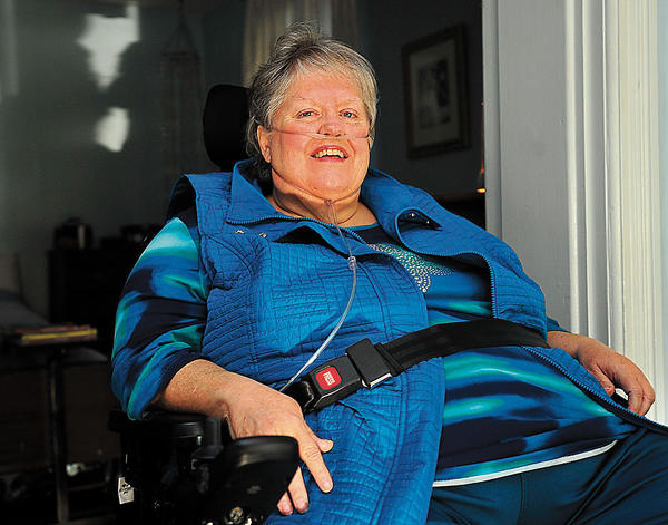 Debra Crawford of Hagerstown was diagnosed with diabetes when she was in her 20s. She was more recently diagnosed with diabetic retinopathy, which is a form of eye disease that occurs when there is damage to the blood vessels in the retina. She is undergoing laser treatment to prevent further vision loss.