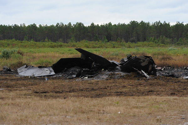 An F-22 Raptor crashed Thursday at Tyndall Air Force Base in Florida. The pilot safely ejected and was released from the hospital.