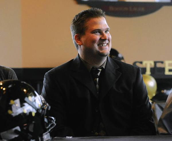 Chris Thompson is introduced as the new head football coach for the Lehigh Vally Steelhawks in December, 2011.