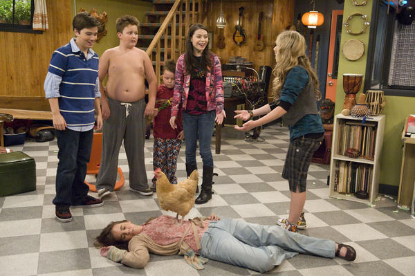 <strong>18</strong> occurrences of Gibby, second from the left, taking off his shirt.