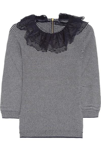 The Marc by Marc Jacobs Sonia striped sweater from Net-a-porter.com ($295) comes with a detachable black tulle collar for an updated twist on the classic striped sweater. Attach the collar for drinks and leave the tulle at home for a casual lunch date.
