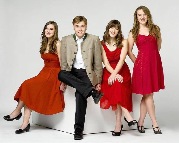 The von Trapp children are now ages 18-24. They are (from left) Amanda, Justin, Melanie and Sofia.