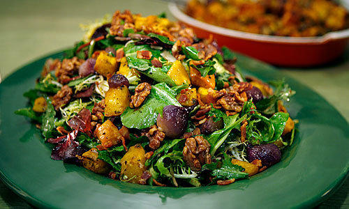 DIFFERENT: Pumpkin comes out of its shell in this salad.
