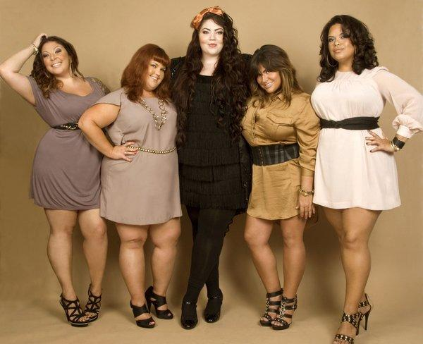 "The cast of the TLC TV series ""Big Sexy"": Leslie, Heather, Audrey, Tiffany and Nikki."