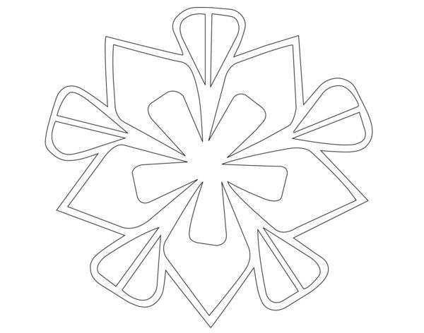 A snowflake for your cake: Download our pdf, then print and cut the design for use on holiday cakes. More ideas are on the artist's website.