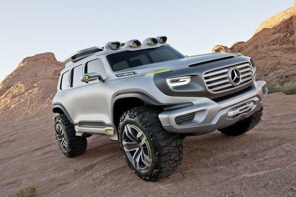 This Ener-G-Force concept imagines a 2025 take on the G-Wagon, a classic Mercedes SUV that's been in production since 1979.