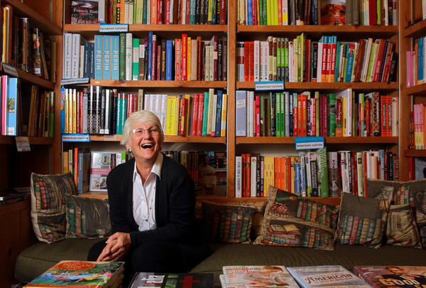 "The Book Stall at Chestnut Court owner Roberta Rubin is pictured in the original book stall her store was named after in Winnetka, Ill., on Thursday, April 5, 2012. The Book Stall at Chestnut Court, which Rubin has owned for 30 years, is the Publishers Weekly '""Bookstore of the Year."" Rubin will accept the award at the American Booksellers Association's annual BookExpo America in New York City on June, 5, 2012."