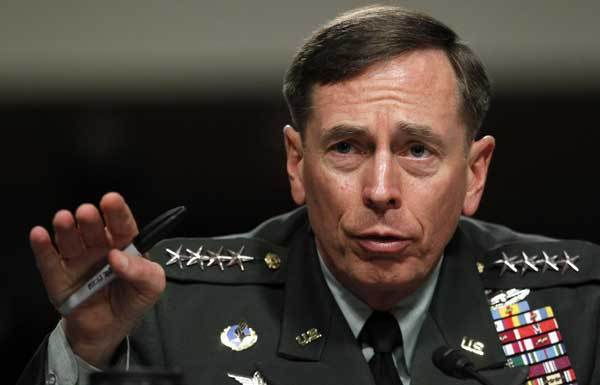 David Petraeus testifies before the Senate Armed Services Committee in 2010.