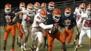 William Byrd made the trip to Lynchburg's City Stadium Friday night to face Heritage.  The Terriers got quarterback Zac Hill back in the lineup last week and knocked off Botetourt for their first playoff win in five years.