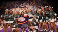 The Costa Mesa High cheerleaders won a division title at a recent competition.