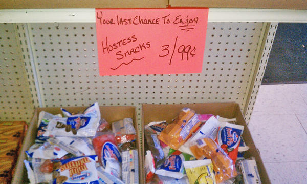 A variety of Hostess products were available Friday at Bargain Mart in Aberdeen.