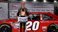Joey Logano won the pole Friday for NASCAR's Sprint Cup Series finale at Homestead-Miami Speedway, with championship contenders Brad Keselowski and Jimmie Johnson not far behind.