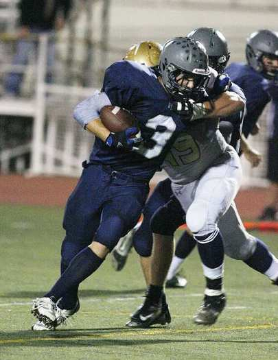 Flintridge Prep's running back Stefan Smith rushed for 121 yards and two touchdowns and made two interceptions on defense.