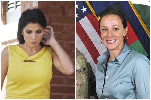 A combination photo shows Jill Kelley (L), a friend of former U.S. General David Petraeus' family and Petraeus' biographer Paula Broadwell.