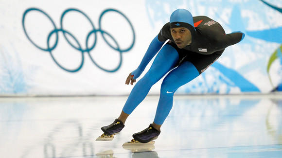 Shani Davis at the 2010 Olympics. (Nuccio DiNuzzo / Chicago Tribune)