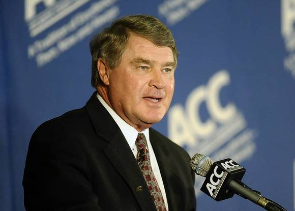 ACC commissioner John Swofford engineered the league's growth to include Notre Dame