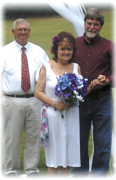 Ginger and Dave Shirley renewed their wedding vows this past summer on their 38th anniversary, July 14. Deacon Clifford Steward, the grandfather of their daughter-in-law Sarah Shirley, performed the renewal of vows at Camp Harding Park.