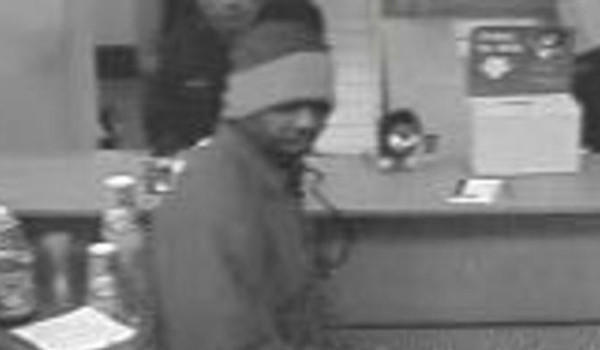 Surveillance photo of a man who robbed a Loop bank on Friday.