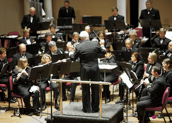 Ron Demkee conducts the Allentown Band in its annual Salute the Troops concert Nov. 18.