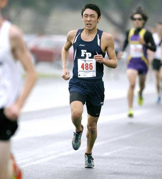 Flintridge Prep senior Aaron Sugimoto led the team by finishing sixth in 15 minutes, 4 seconds.