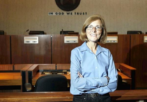Newly elected City Councilwoman Sandy Genis will return to the dais after a 16-year absence. Since then, though, she's been busy as a community activist, particularly against the sale of the Orange County Fairgrounds.