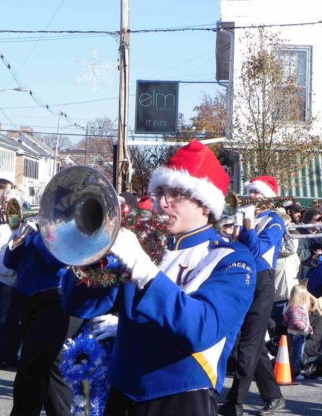 Waynesboro band member performs a holiday melody for the crowd.