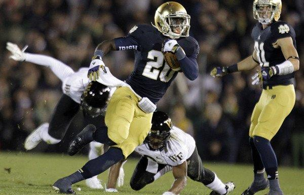 Running back Cierre Wood and Notre Dame are a victory over USC from probably locking a spot in the BCS title game.