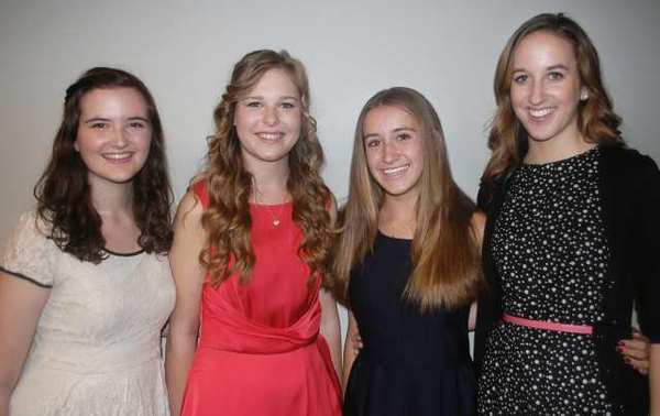 From the left, Laura Green, Annette Persson, Daisy Beckner and Courtney Perry are among the applicants for this year's Miss La Cañada Flintridge program.