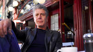 "Anthony Bourdain brought his ""Guts and Glory"" tour to Baltimore's Hippodrome Theatre on Saturday night.  In typical Bourdain fashion, he began his performance with a round of shots."