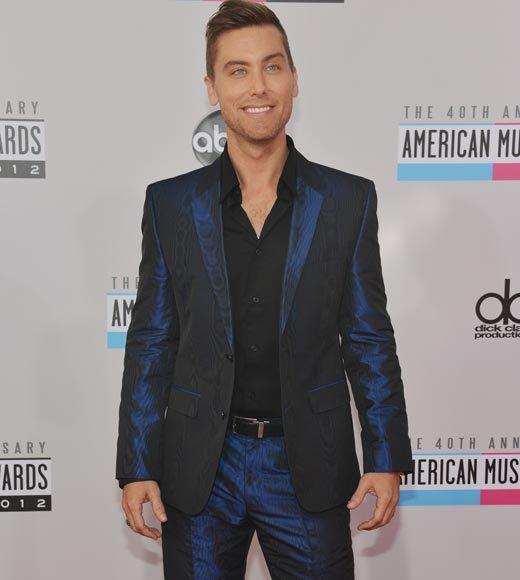American Music Awards 2012 Red Carpet Arrival Pics: Lance Bass