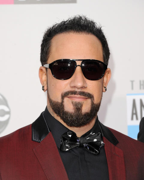 Singer A.J. McLean of Backstreet Boys at the 40th American Music Awards.