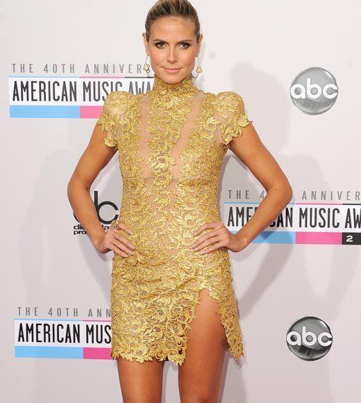 American Music Awards 2012 Red Carpet Arrival Pics: Heidi Klum