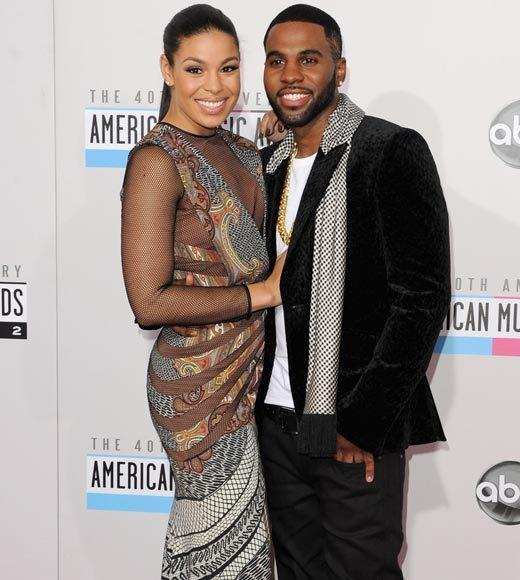 American Music Awards 2012 Red Carpet Arrival Pics: Jordin Sparks and Jason Derulo