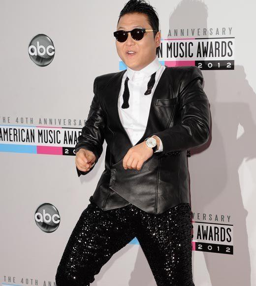 American Music Awards 2012 Red Carpet Arrival Pics: Psy