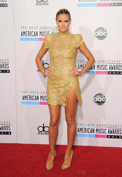 TV personality Heidi Klum at the 40th American Music Awards.