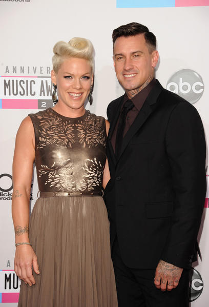 Singer Pink and athlete Carey Hart attend the 40th American Music Awards.
