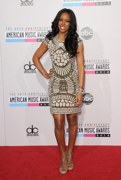 Singer Kelly Rowland, formerly of Destiny's Child, at the 40th American Music Awards.