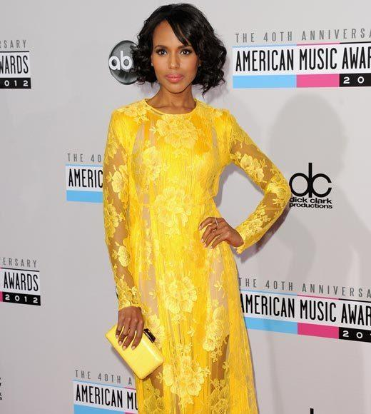 American Music Awards 2012 Red Carpet Arrival Pics: Kerry Washington