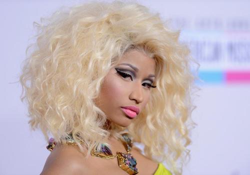 Singer Nicki Minaj at the 40th American Music Awards. Minaj is nominated in four categories, including Favorite Album — Rap/Hip-Hop.