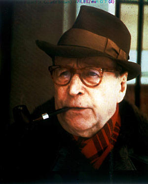 Writer Georges Simenon, shown here in 1981.