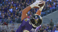 Ravens tight end Dennis Pitta has been ruled out for the remainder of the game with a concussion, according to a team official.