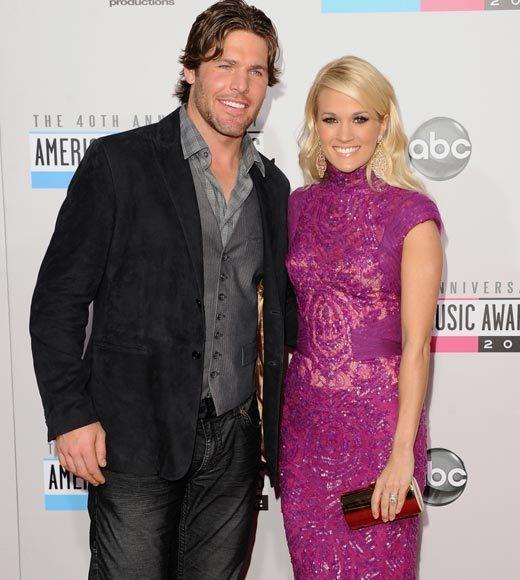 American Music Awards 2012 Red Carpet Arrival Pics: Mike Fisher and Carrie Underwood