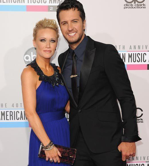 American Music Awards 2012 Red Carpet Arrival Pics: Caroline and Luke Bryan
